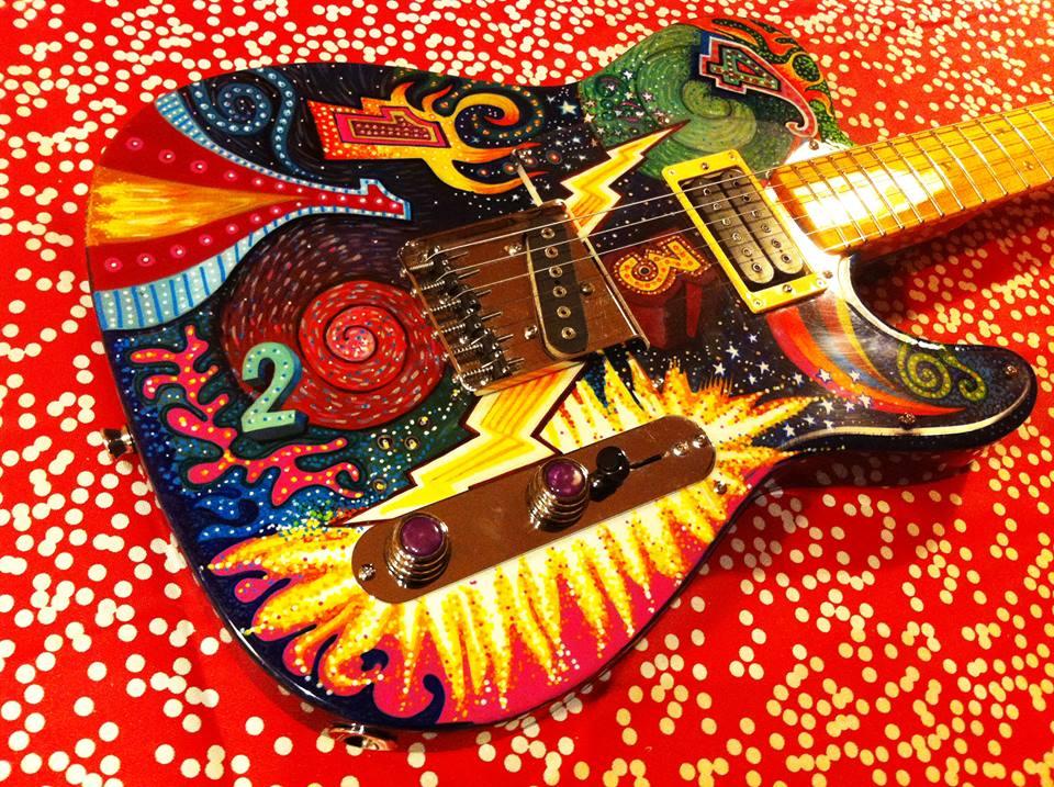 Psychedelic Custom Guitar - Guitar Setup